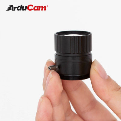 Arducam CS-Mount 25mm Focal Length with Manual Focus Lens for Raspberry Pi High Quality Camera