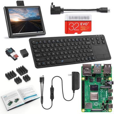 Vilros Raspberry Pi 4 Desktop with 8 Inch Screen and 15 Inch Keyboard/Touchpad Combo
