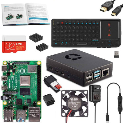 Vilros Raspberry PI 4 Model B Complete Desktop Kit with Mini Keyboard and Touchpad Combo