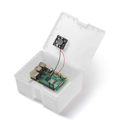 Vilros Raspberry Pi 4 Compatible Use and Store Case with Preinstalled Fan