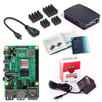 Vilros Raspberry Pi 4 Model B Basic Starter Kit with Official Raspberry Pi Case (Red/White) or (Black/Grey)