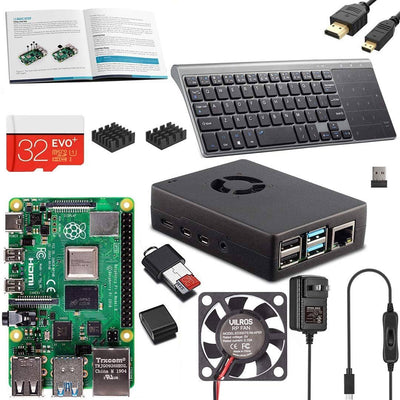 Vilros Raspberry PI 4 Model B Complete Desktop Kit with 10 inch Keyboard/Touchpad Combo