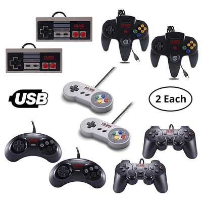 Vilros Retro Gaming USB Classic Controller Sets