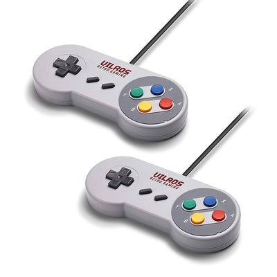 Vilros Raspberry Pi 4 SNES Style Retro Gaming Kit-Includes 2 SNES Style Gamepads and NES Style Case