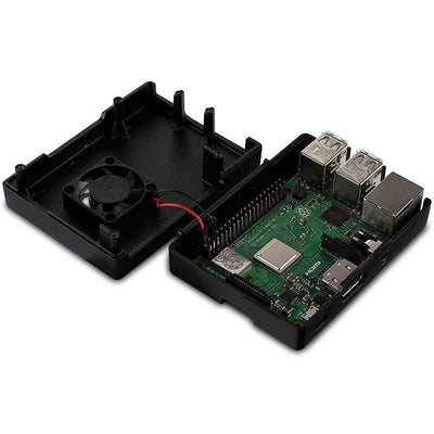 Vilros Raspberry Pi Accessory Starter Pack for Raspberry Pi 3 Models B & B+ Includes 2.5Amp Power Supply with On/Off Switch -Aluminum Alloy Case with Built in Fan, Set of 2 Heatsinks - Vilros.com