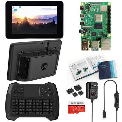 Vilros Raspberry Pi 4 Desktop with Official 7 Inch Touchscreen and Gaming Style Mini Keyboard/Touchpad Combo