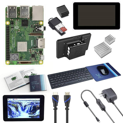 "Vilros Raspberry Pi 3 Model B+ (Plus) Complete Starter Kit with 7"" LCD Touchscreen Monitor & 11 Inch Keyboard with Mouse & Mouse-pad - Vilros.com"