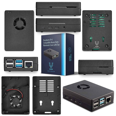 Vilros Raspberry PI 4 Model B Complete Desktop Kit with Mini Gaming Style Keyboard/T-pad