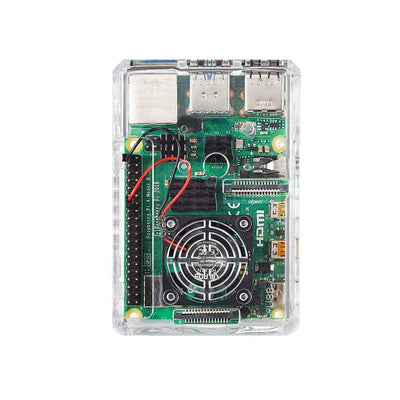Vilros Accessories Starter Pack for Raspberry Pi 4-Includes: Fan-Cooled Case - Power Supply - Heatsink (Set of 4) - & Micro HDMI Adapter
