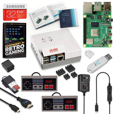 Vilros Raspberry Pi 4 NES Stlye Retro Gaming Kit-Includes 2 NES Style Gamepads and NES Style Case