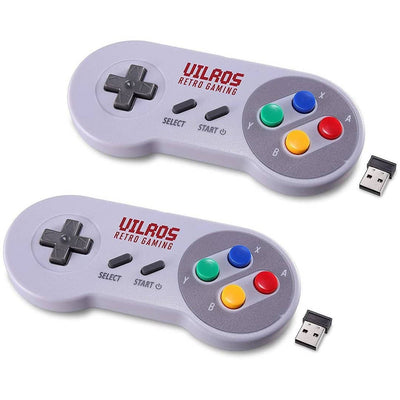 Vilros Wireless USB Retro Gaming SNES Style Gamepads - Set of 2 - Vilros.com