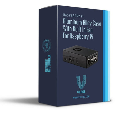 Vilros Raspberry Pi 3 Compatible Heavy Duty Aluminum Case With Pre-installed Fan