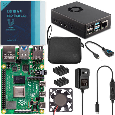 Vilros Raspberry Pi 4 Basic Starter Kit with Fan-Cooled Heavy-Duty Aluminum Alloy Case