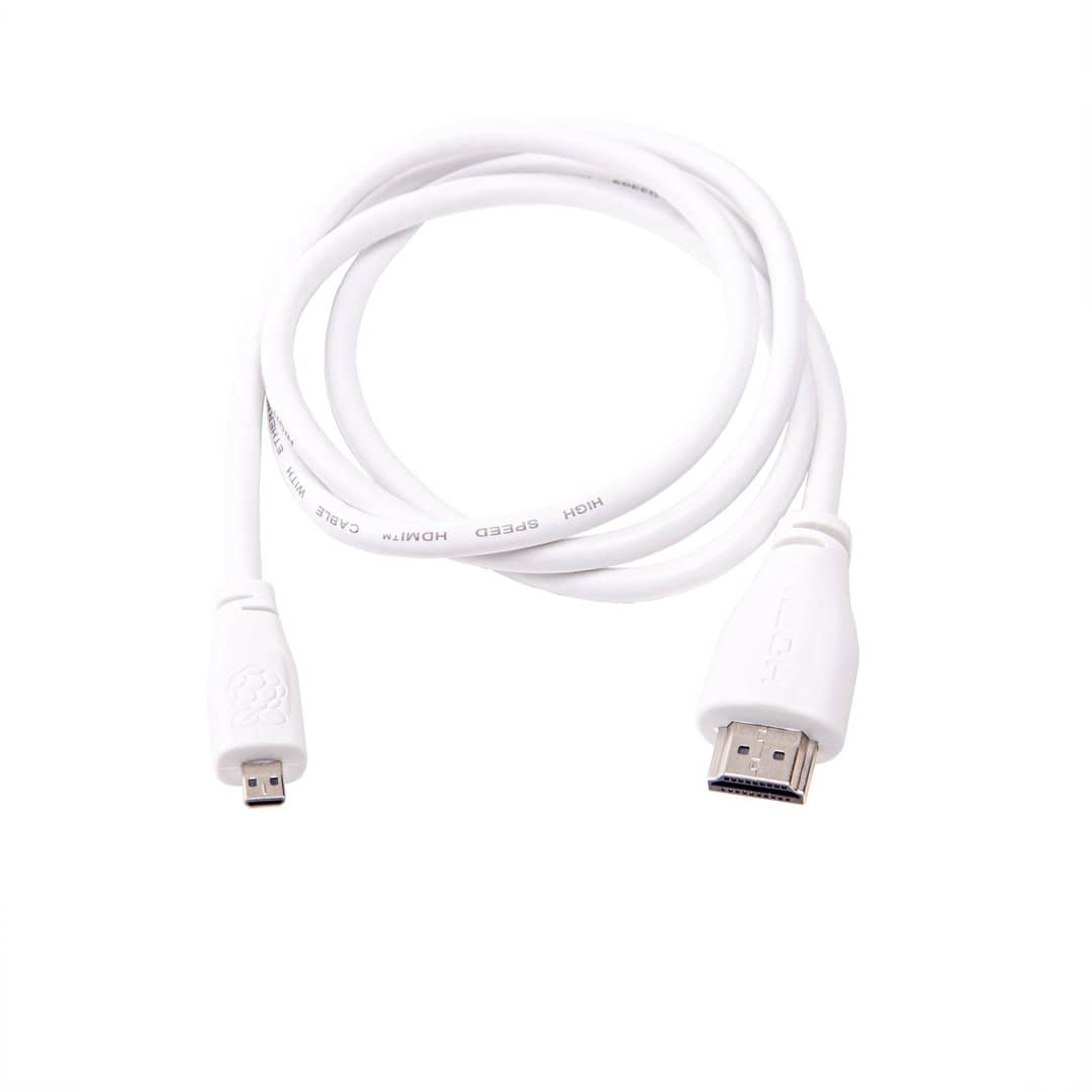 Official Raspberry Pi 4 Micro-HDMI to HDMI Cable. 1m