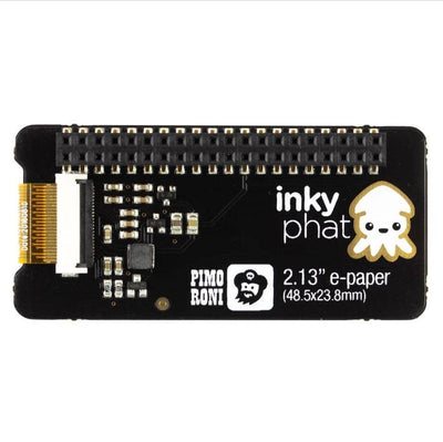 Pimoroni Inky pHAT (ePaper/eInk/EPD) – Red/Black/White