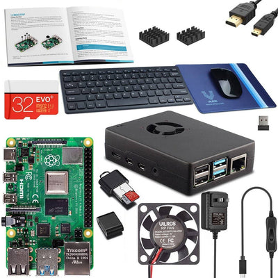 "Vilros Raspberry Pi 4 Desktop Kit with 11"" Keyboard-Sleek Mouse and Mousepad"