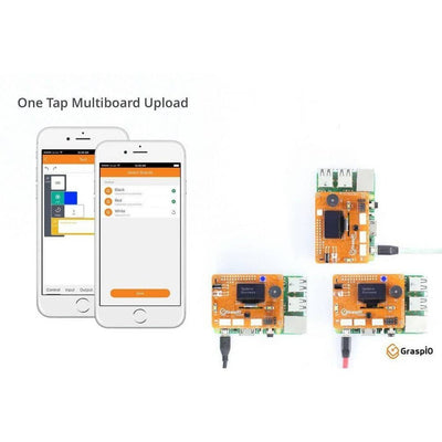 Grasp.io Cloudio Smart Development Board, Add-On for Raspberry Pi - Vilros.com