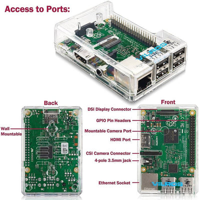 Raspberry Pi 3 Model B Complete Starter Kit – 32GB | Vilros.com | Free Shipping