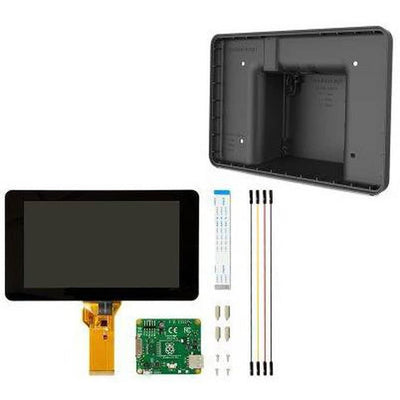 "Official Raspberry Pi 7"" Touchscreen LCD Display + Black Case Combo - Vilros.com"
