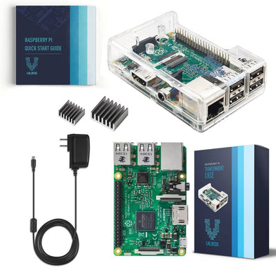 Vilros Raspberry Pi 3 Kit with Clear Case and 2.5A Power Supply - Vilros.com