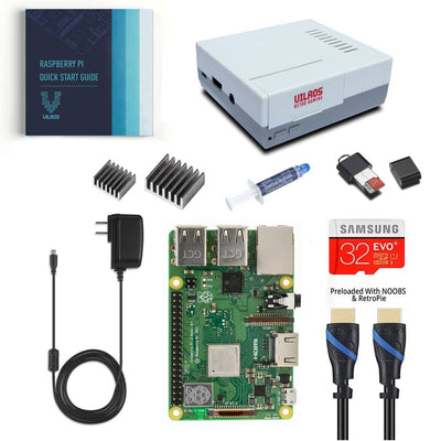 Vilros Raspberry Pi 3 Model B Plus Complete Starter Kit with Retro Gaming Style Case - Vilros.com