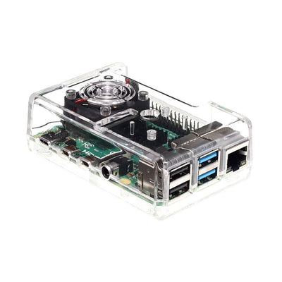 Vilros Raspberry Pi 4 Model B Complete Starter Kit with Clear Transparent or Black Case and Built in Fan