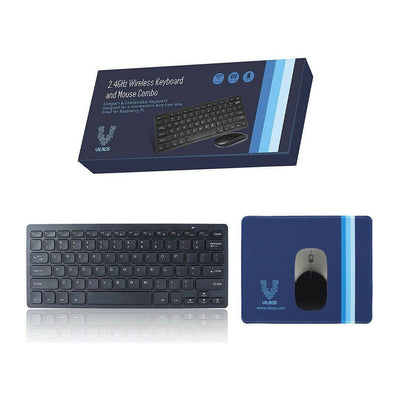 Wireless Keyboard and Mouse with Bonus Mousepad Great for Raspberry Pi and Computer | Vilros.com | Free Shipping