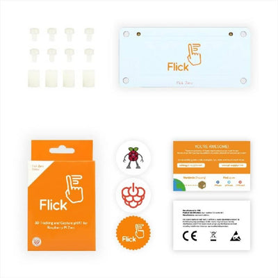 Flick Zero 3D Tracking & Gesture pHAT for Raspberry Pi Zero