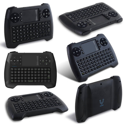 Vilros Raspberry Pi 4 Desktop with 8 Inch Screen and Gaming Style Mini Keyboard/Touchpad Combo