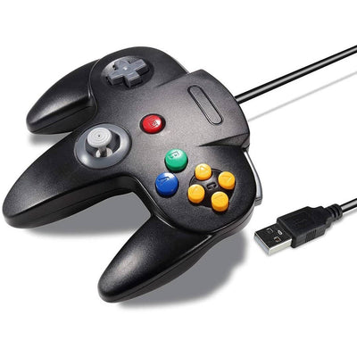 Vilros Retro Gaming N64 Style USB Gamepads-Set of 2