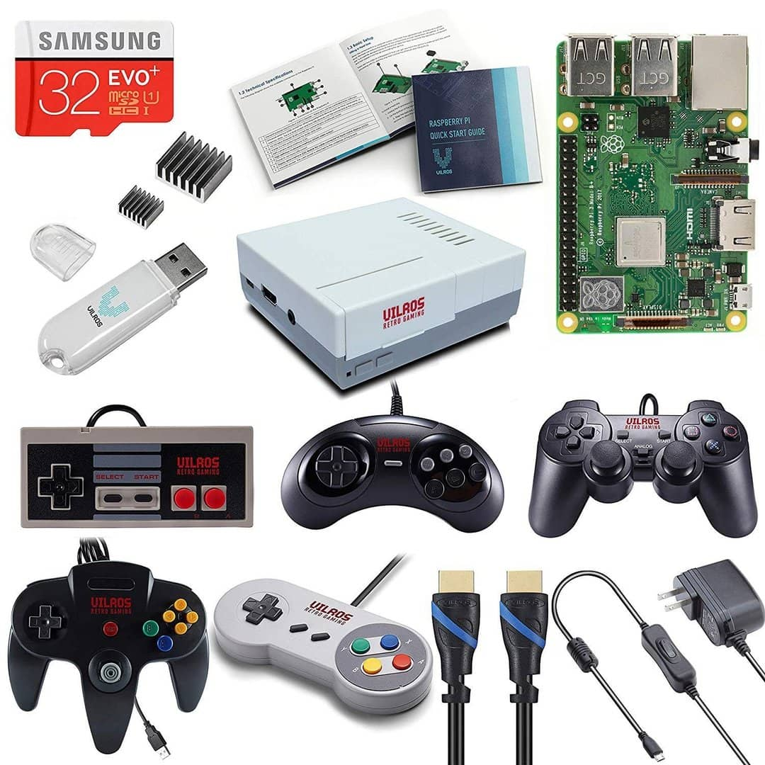 Raspberry Pi 3 Model B Plus Gaming Kit With 5 Controllers