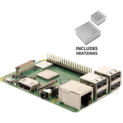 Vilros Raspberry Pi 3 Model B+ (B Plus) With set of 2 Aluminum Heatsink | Vilros.com | Free Shipping