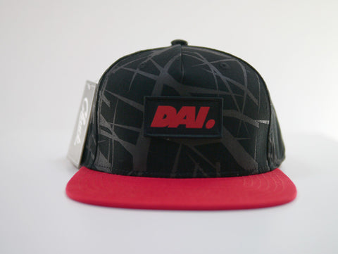 DAI. Headwear Black on Black pattern