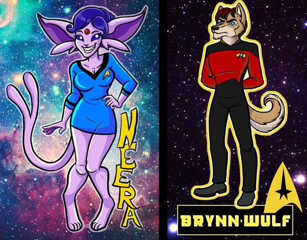 Vancoufur Space Station Badges (Full body)