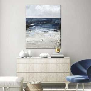 Freja / Blue water | HANDMADE PAINTING