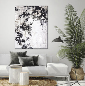 Freja / Black Leaves | HANDMADE PAINTING