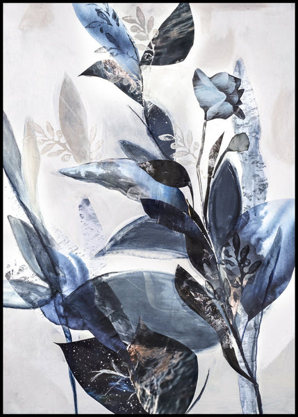 Blue Leaves | POSTER BOARD