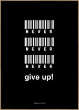 Never give up | POSTER BOARD