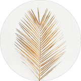 Palm Leaf Gold | CIRCLE ART | ROUND PRINTS
