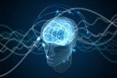 consciousness and brain power or brain supplements concept