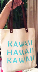 Hawaiiana KAWAII HAWAII Tote