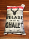 Coussin Relaxe on est au chalet