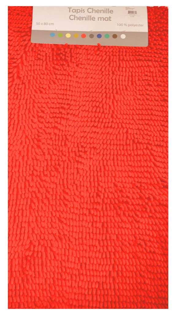 Tapis chenille corail