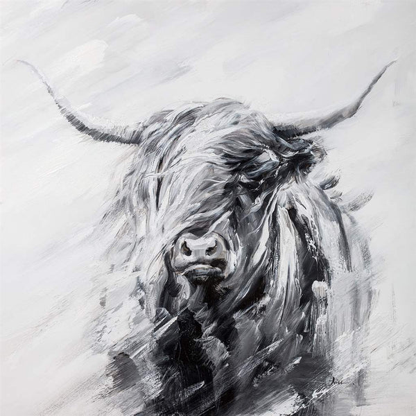 Canvas vache highland