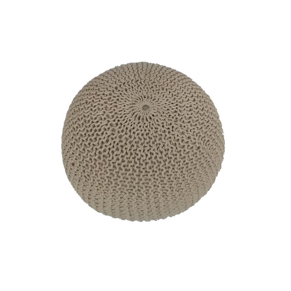 Pouf jersey naturel
