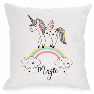 Coussin Magic à motif licorne