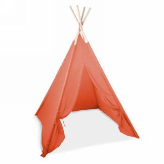 Tipi pliable en tissu orange