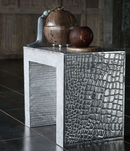 Collection Marie-Christine - Table d'appoint ou banc alum recyclé croco