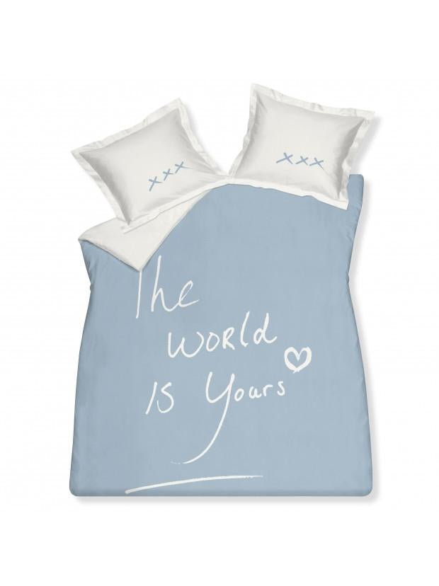 Housse de couette The World is Yours Denim