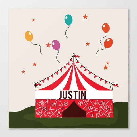 Circus Tent Kids Wall Art